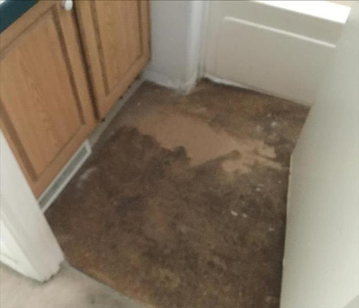 bathroom floor removed