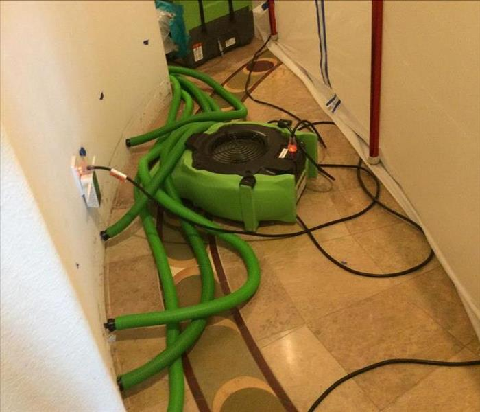 hallway with air movers